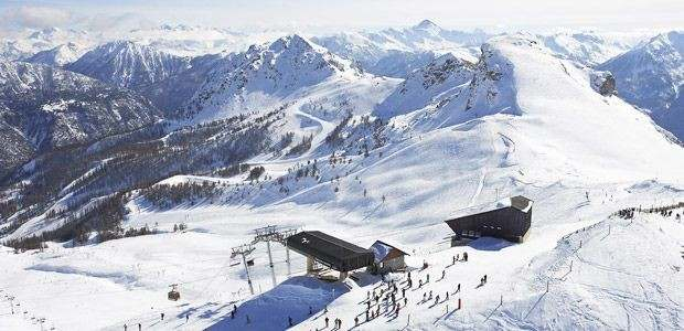 Serre Chevalier Vallée ski area is one of the largest in Europe