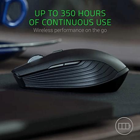 Razer Atheris Ambidextrous Wireless Mouse: 7200 DPI Optical Sensor - 350 Hr Battery Life - USB Wireless Receiver & Bluetooth Connection - Classic Black
