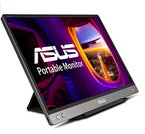 ASUS ZenScreen 14 1080P Portable Monitor (MB14AC) - Full HD, IPS, Built-in Battery, Eye Care, Foldable Smart Case, USB-C Power Delivery, Ultra-slim, Micro HDMI, For Laptop, PC, Phone, Console , BLACK